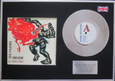"Depeche Mode - 7"" Platinum Disc & Cover - It's Called a Heart"
